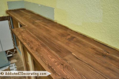wood kitchen counters sink protector 12 diy wooden countertops to make shelterness cedar countertop via addicted2decorating