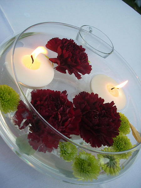 37 Floating Flowers And Candles Centerpieces  Shelterness