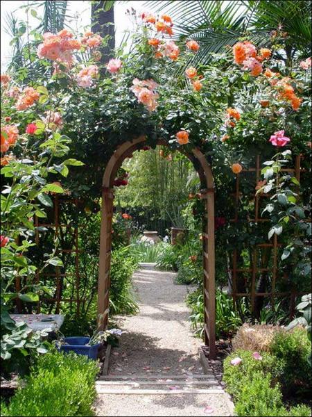 Picture Of Flower Garden Archways