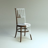 Old Wood Chair Modernized With Plastic - Shelterness