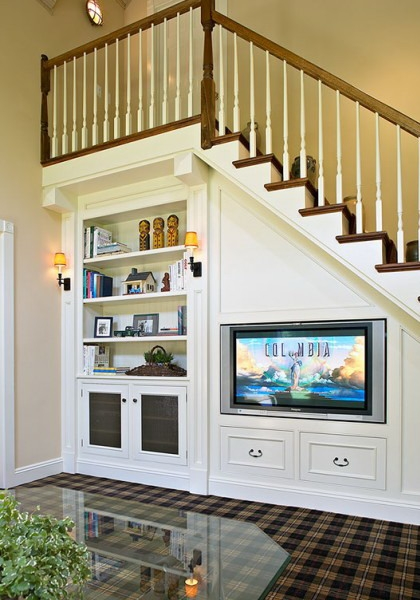 31 Living Room Under Stairs Storage Ideas Shelterness   Sala Design With Stairs   Front   Showcase   Basement   Siri Ghar   Room Separation