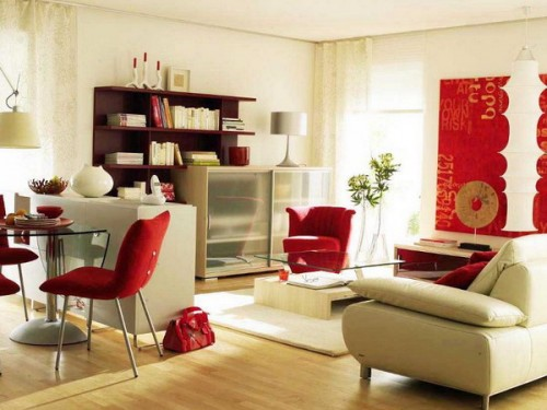 Simple Zoning Of A Modern Living and Dining Areas