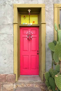 15 Pink Front Door Designs That Inspire - Shelterness