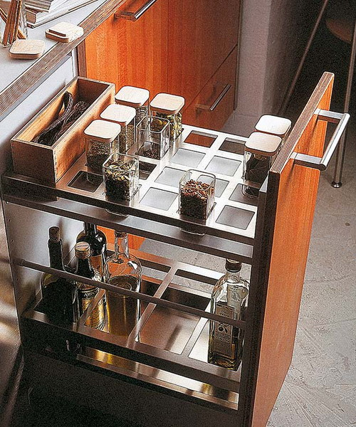 pull out kitchen cabinet whisk electric 67 cool drawers and shelves shelterness this come with awesome built in spice organizer