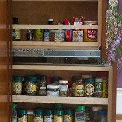 Small Kitchen Table Stainless Steel Carts 10 Pull-out Spice Storage Solutions - Shelterness