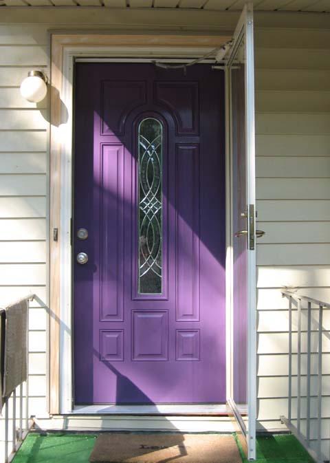 12 Purple Front Door Designs That Inspire  Shelterness