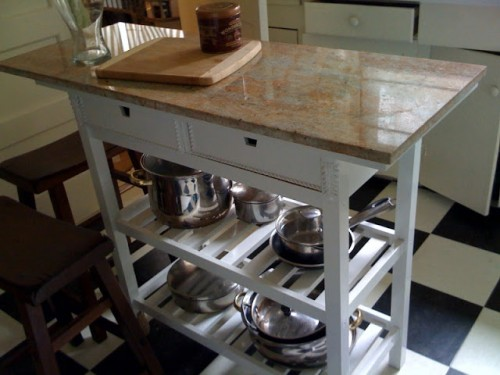 kitchen stools ikea backsplash marble 8 quick diy fÖrhÖja cart hacks - shelterness