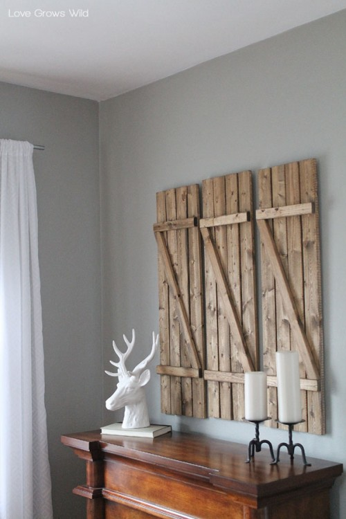 Rustic DIY Barn Wood Shutters  Shelterness