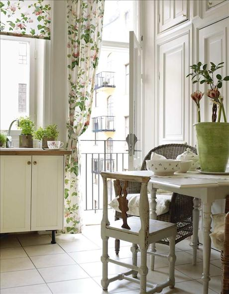 Living Room Shabby Chic Ideas White Fireplace Walnut Wall Shelves Beige Comfy Sofa The