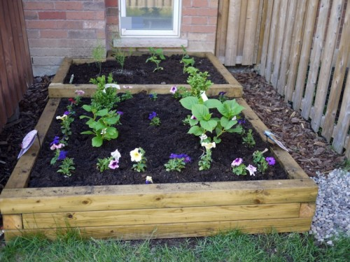 7 simple diy flower beds - shelterness