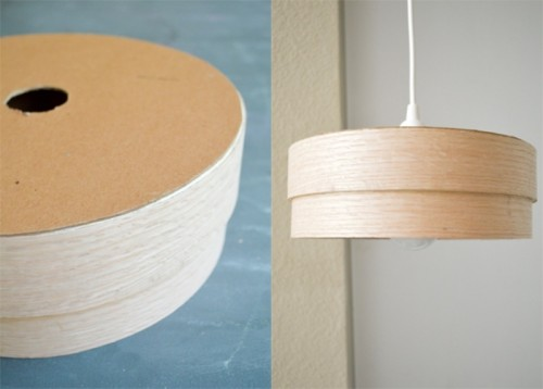 Simple DIY Veneer Pendant Lamp  Shelterness