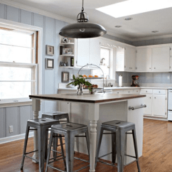 Simple Kitchen Island Exhaust Fans Wall Mount 14 Homemade Islands Shelterness Makeover Via Curbly