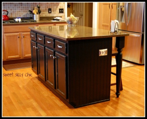 simple kitchen island lg appliance packages 14 homemade islands shelterness stylish dark via sweetsillychic