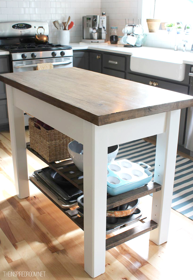 Picture Of distressing kitchen island