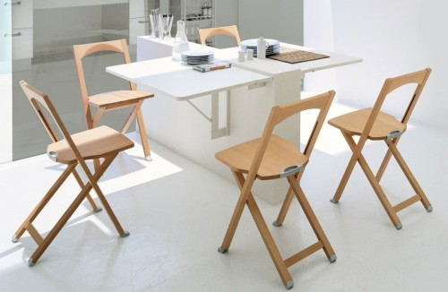 small table for kitchen coastal and chairs 10 ideas to use folding tables on a shelterness