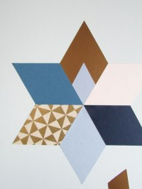 Trendy And Colorful DIY Geometric Wall Art - Shelterness