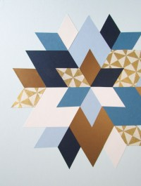 Picture Of trendy and colorful diy geometric wall art 9
