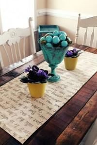 Unique DIY Handwritten Table Runner - Shelterness