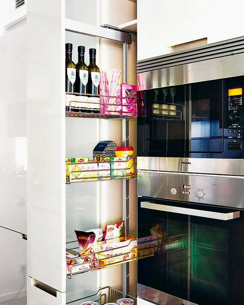 pull out kitchen cabinet aid beater 67 cool drawers and shelves shelterness tall slide is perfect to have all necessary supplies on hand