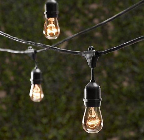 vintage outdoor lighting string
