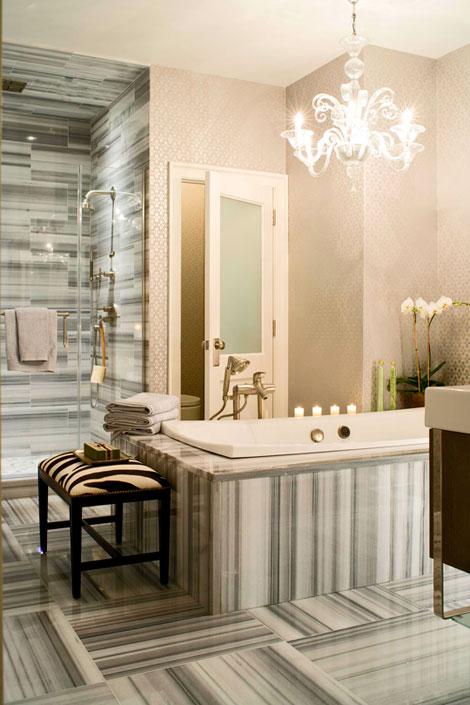 Fall Ceiling Wallpaper 30 Bathroom Wallpaper Ideas Shelterness