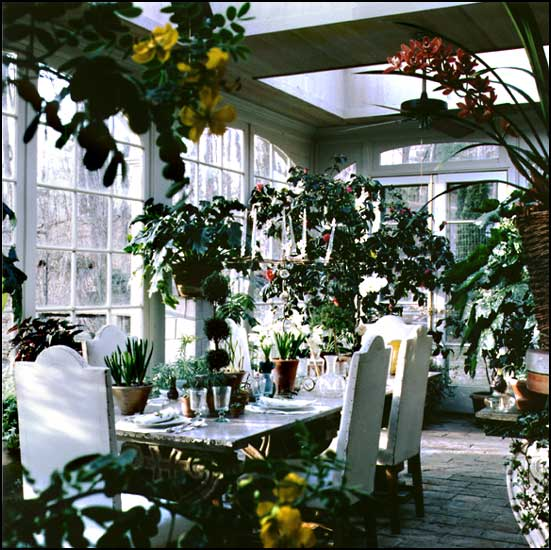 Mansion Winter Garden Interior Design In Country House Style