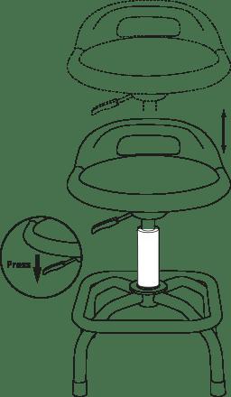 TYPE S Ultra Cushioned Pneumatic Shop Stool AC57144M Bar