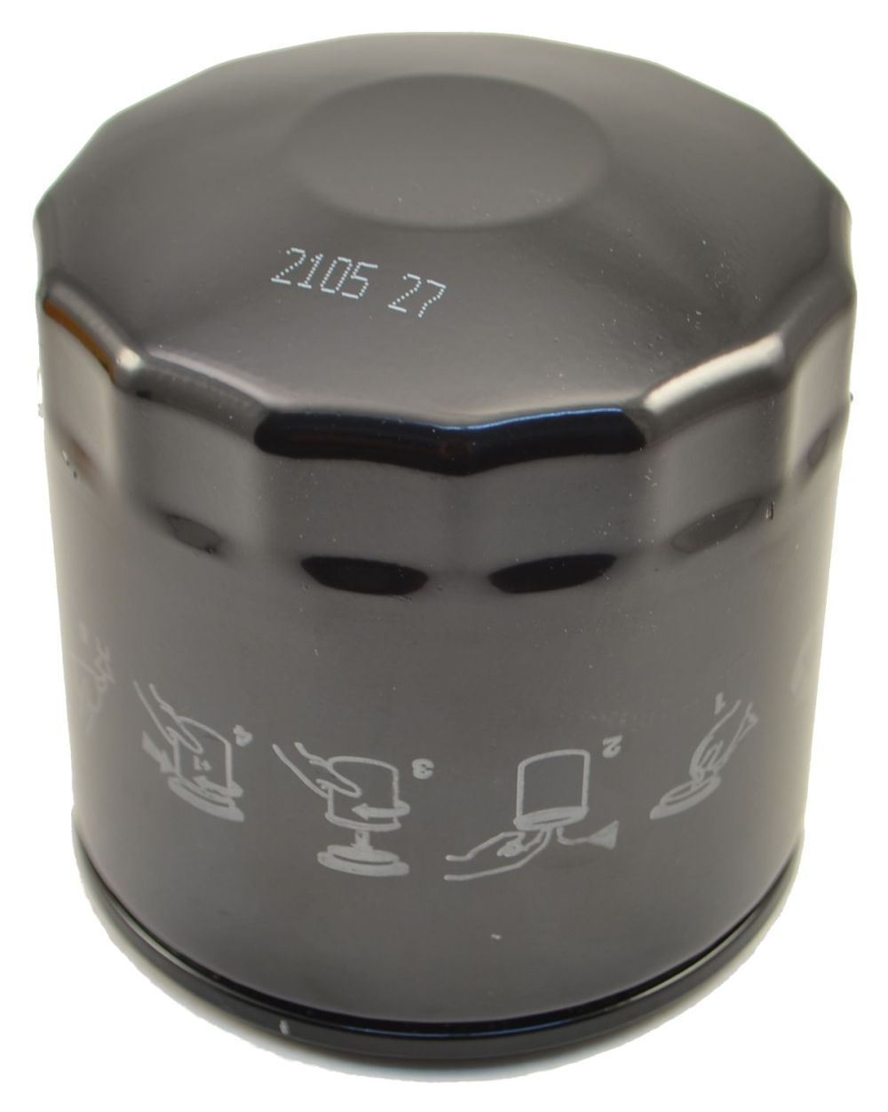medium resolution of traditional canister style spin on oil filter
