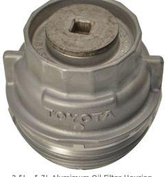 2 5l 5 7l toyota aluminum oil filter housing [ 1200 x 1371 Pixel ]