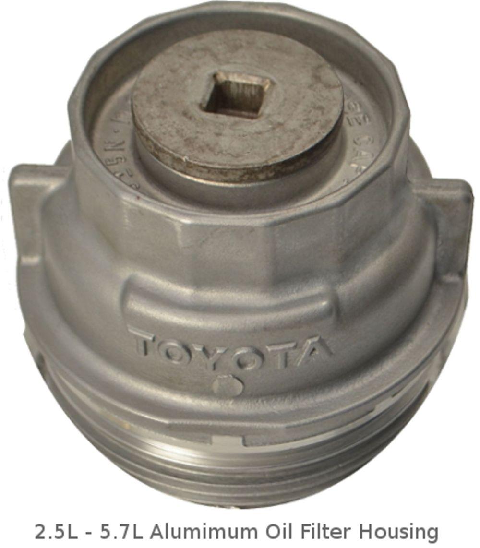 medium resolution of 2 5l 5 7l toyota aluminum oil filter housing
