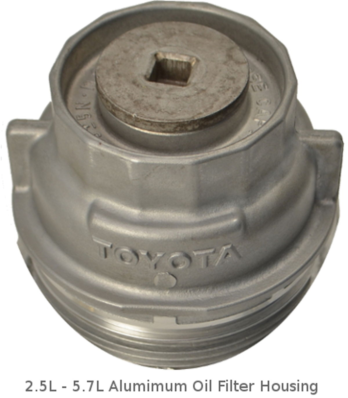 hight resolution of 2 5l 5 7l toyota aluminum oil filter housing