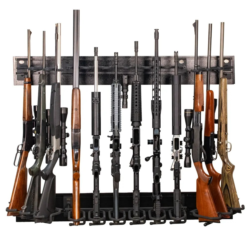 hold up gun racks and firearm wall displays