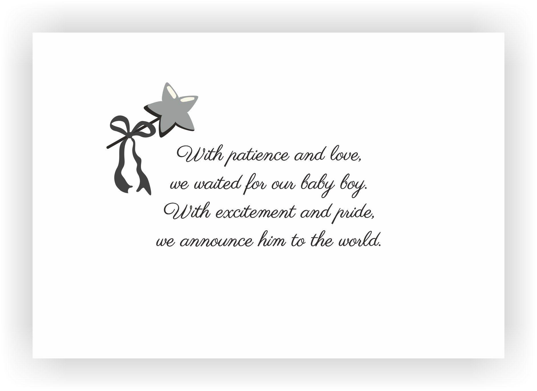 newborn baby announcement message