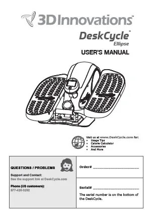DeskCycle Users Manuals