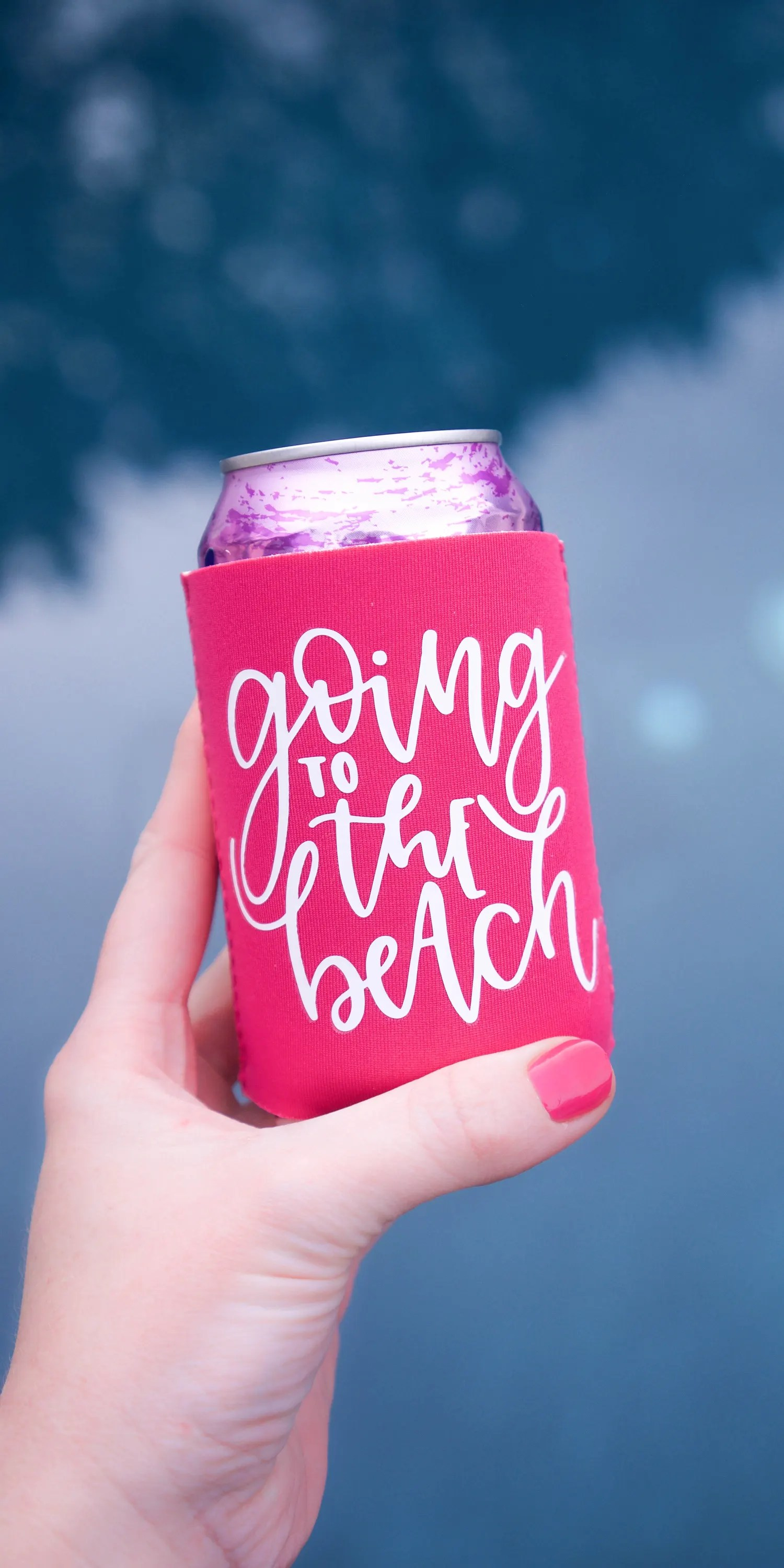 Htv Tutorial Make Your Own Koozie For Spring Break Craftables