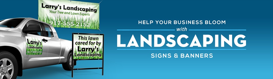 landscaping signs lawn care