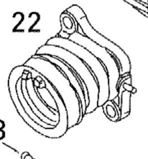 Впускной патрубок оригинальный BRP 420667274/420667270 для