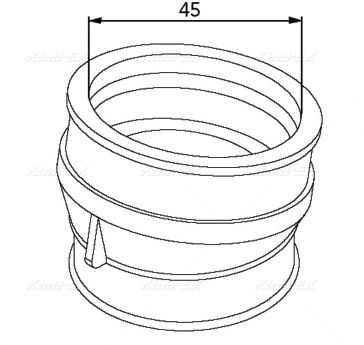 Патрубок карбюратора SPI 07-100-38 для BRP 570066800