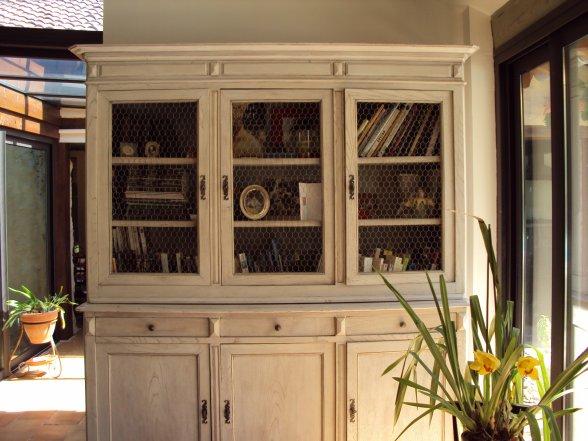 bibliotheque en chene blanchi meubles
