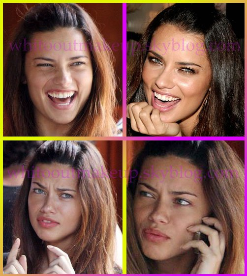 Adriana Lima - STARS SANS MAQUILLAGE/STARS WITHOUT...
