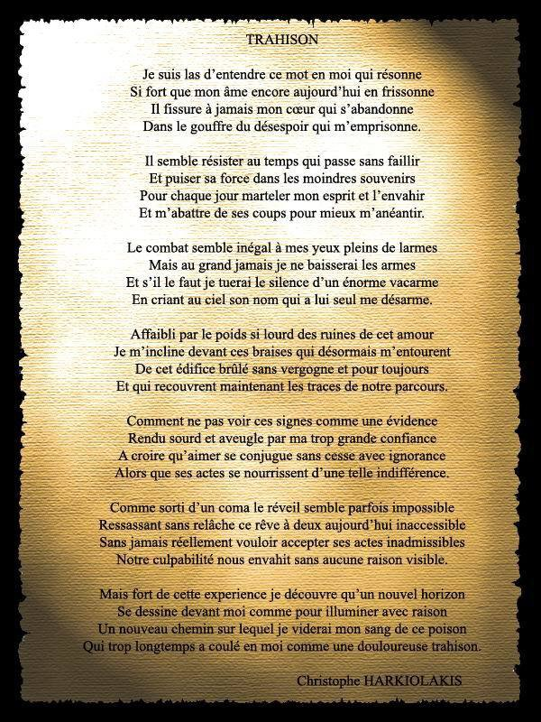 Poeme De Trahison D Amour : poeme, trahison, amour, Poeme, Trahison, UNIVERS