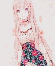 manga fille cheveux rose