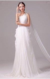 Wedding dress style: Greek goddess wedding dress