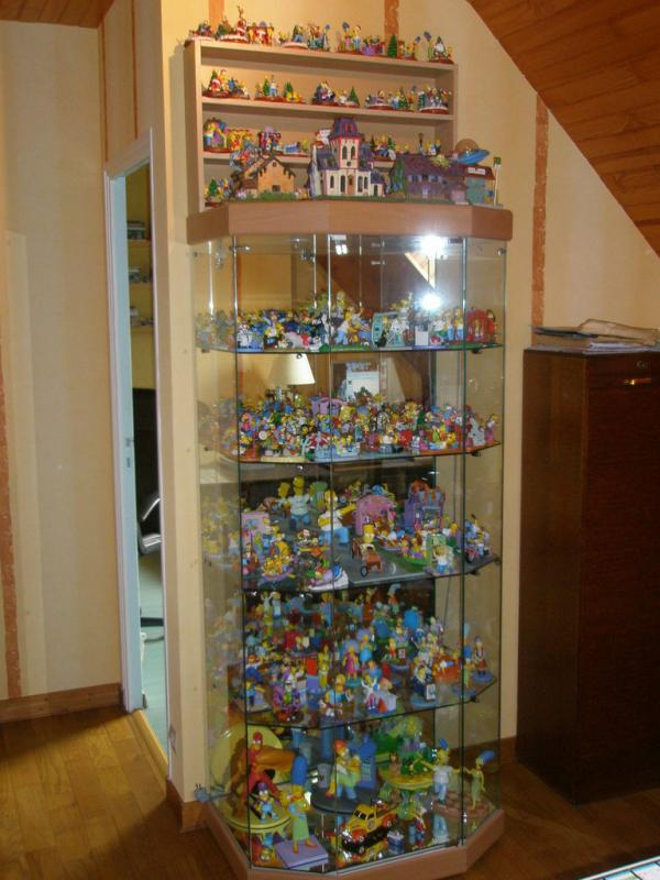 vitrine complete figurines simpsons
