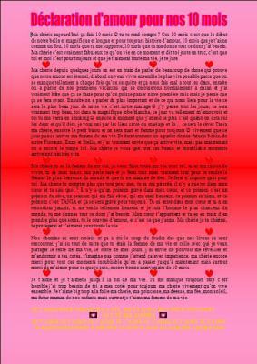 1 An D Amour Avec Lui : amour, Déclaration, D'amour