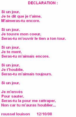 Poeme De Declaration D Amour : poeme, declaration, amour, Déclaration, Poeme, D'amour, ,poeme, Toujours
