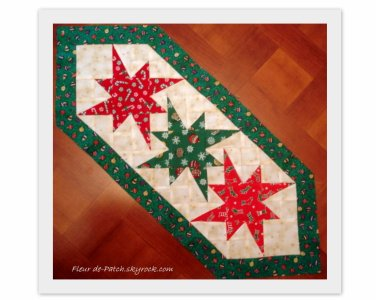 patchwork chemin de table pour noel