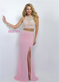 Similar Long Prom Dresses 2016 with Two Piece,Slit Designs ...