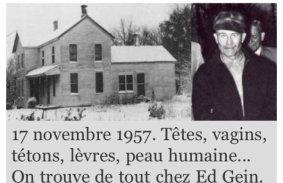"""Résultat de recherche d'images pour """"ed gein le boucher"""""""