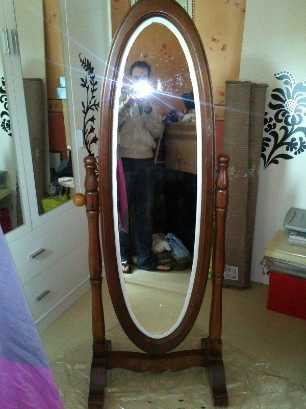 custom miroir sur pieds ovale du neuf